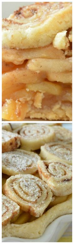 Apple Pie with Cinnamon Roll Crust ~ The apples and perfectly sweetened and spiced, and the cinnamon roll crust is so beautiful and really makes this pie something special!