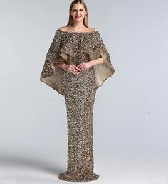 Luxury New design Arabic glitter Evening Gowns(Rose Gold/Gold) - Nirvanafourteen Wedding Dresses With Straps, Pink Prom Dresses, Mermaid Prom Dresses, Event Dresses, Gold Sparkly Dress, Spaghetti Strap Wedding Dress, Frock Fashion, Designer Evening Gowns, Pageant Gowns