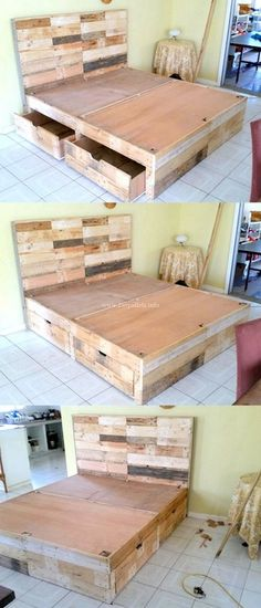 Stylish Diy Wooden Pallets Bed Ideas