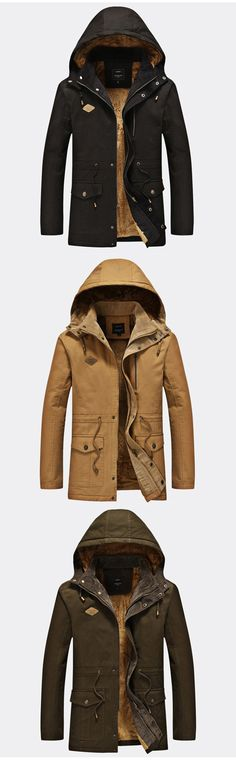 Men's Holiday Casual/Daily Simple Winter Coat