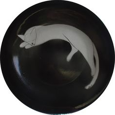 Art by Jen G: Ceramic PLATTERS: Cat Designs