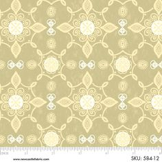 1YD Rustic GATHERINGS LACE MEDALLIONS Taupe Thanksgiving Autumn Newcastle Fabric #NewcastleFabrics