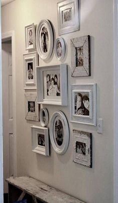 Farmhouse Decor Picture Frame Wall Gallery.  Reclaimed Wall Art Custom Color Frames. #walldecor #wallart #frames #pictures #photos #farmhouse #farmhousedecor #farmhousestyle #rusticdecor #reclaimed #etsyfinds #affiliatelink