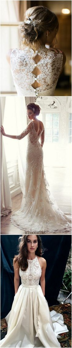 vintage wedding dresses with lace details for 2017