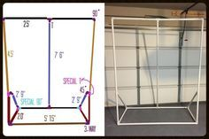DIY Photo booth background from PVC pipe - picture tutorial AND complete supplies list!!