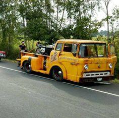 slammed Ford Cab Over Hot Rod Trucks, Cool Trucks, Big Trucks, Cool Cars, Ford Pickup Trucks, Chevy Trucks, Lifted Trucks, Rat Rods, Custom Trucks