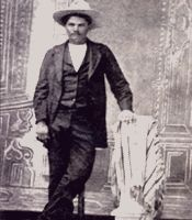 Outlaw John Wesley Hardin was born in Bonham, Texas in 1853. He became one of the most famous gunmen in the history of the Wild West.