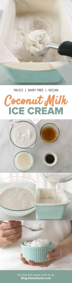 A silky smooth, decadent coconut milk ice cream that you can make sans ice cream maker—all you need is four ingredients and some patience! Get the recipe here: http://paleo.co/CocoIce