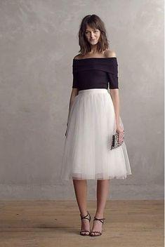 15 Ways To Wear A Tulle Skirt - Society19 UK Vestidos Midi 4eff7cff24e2