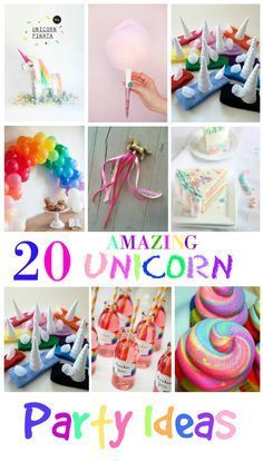 20 Amazing Unicorn Birthday Party Ideas for Kids | It's not easy coming up with unique birthday party ideas, but with so many great crafts, cakes and Invitations out there to make your Rainbow come to life then look no further because these are totally awesome.