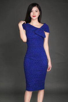 Đầm body kim tuyến xanh