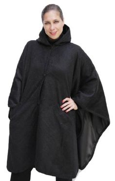 This exquisite #hooded cape is completely lined and features two front pockets. It is made of alpaca yarn, one of the finest yarns in the world.  Its color is a ...