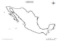 Mapa de la Republica Mexicana con nombres para imprimir