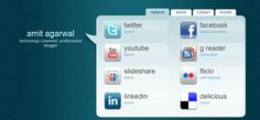 Create a Virtual Business Card with all your Social Profiles.