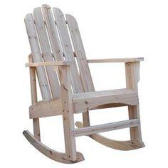 Marina Adirondack Rocking Chair in Natural