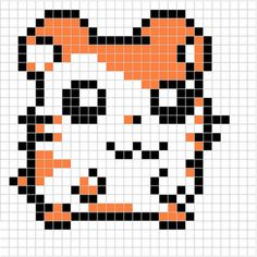 Resultado de imagen para pixel art kawaii with grid junk food Pixel Art Kawaii, Anime Pixel Art, Perler Beads, Perler Bead Art, Hama Beads Kawaii, Hamtaro, Pixel Art Templates, Perler Bead Templates, Hama Beads Patterns
