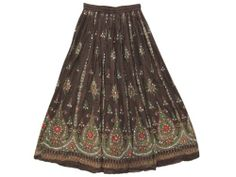 Gypsy Skirt for Womens , Brown Sequin Skirts, Dcrapechic Beaded Allover Skirt Mogul Interior,http://www.amazon.com/dp/B00EWEWSPK/ref=cm_sw_r_pi_dp_Yy.isb0CAG07NWDQ