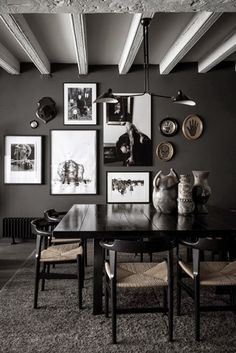 The dark side of decorating | The best scandinavian home design ideas! See more inspiring images on our boards at: http://www.pinterest.com/homedsgnideas/island-home-design-ideas/