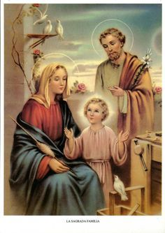 Every family is the holy family if there is LOVE in it. Catholic Religion, Catholic Saints, Catholic Art, Pictures Of Christ, Religious Pictures, Jesus Mother, Blessed Mother Mary, Religious Paintings, Religious Art
