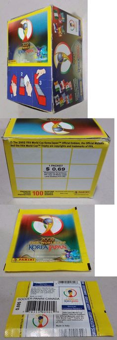 Sports Stickers Sets and Albums 141755: New Panini 2002 World Cup Korea Japan Stickers Box 100 6-Sticker Packs - Canada -> BUY IT NOW ONLY: $99 on eBay!