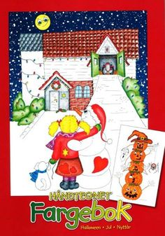 Fargebok – halloween – jul – nyttår  håndtegnet Advent Calendar, Halloween, Holiday Decor, Home Decor, Decoration Home, Interior Design, Home Interior Design, Spooky Halloween, Home Improvement