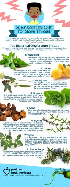 8 Essential Oils For Sore Throat More