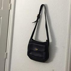 Vintage Coach Navy Blue shoulder bag Long adjustable strap Coach Bags Shoulder Bags