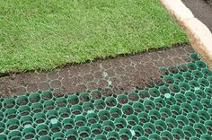 COREgrass (TM) for lush green grass that you can continually drive over witohut rutting or killing the grass.