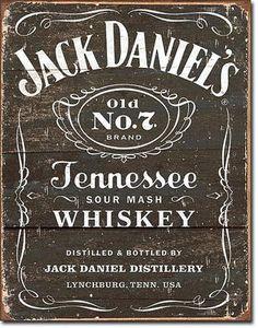 Jack Daniel's - Weathered Logo Tin Sign Tin Sign at AllPosters.com