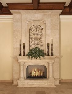 Tuscan design ideas - furniture and kitchen design elements Stone Fireplace Mantel, Marble Fireplaces, Fireplace Design, Tuscany Decor, Tuscan Design, Fireplace Remodel, Tuscan Decorating, Historic Homes, Room Decor