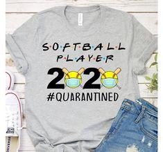 Softball Players 2020 Quarantined Funny Softball Lover T-Shirt – Ronole Softball Memes, Softball Workouts, Softball Uniforms, Softball Problems, Softball Cheers, Softball Coach, Softball Gifts, Softball Players, Girls Softball