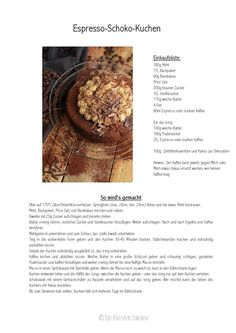 Espresso-Schokoladenkuchen: ein Seelenschmeichler - Das Knusperstübchen
