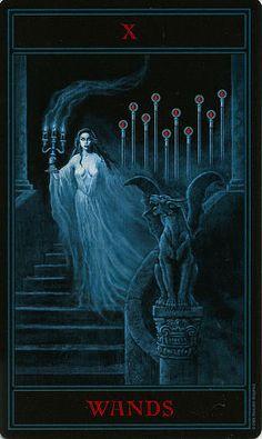 The Gothic Tarot ► Ten of Wands