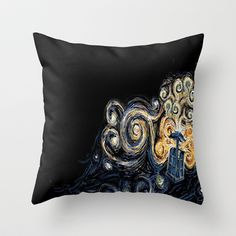 Doctor Who Van Gough Throw Pillow by Elyse Notarianni - $20.00