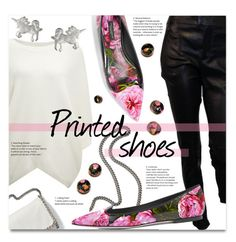 """""""Printed shoes"""" by addorajako ❤ liked on Polyvore featuring Maje, STELLA McCARTNEY, Dogeared, Givenchy, Dolce&Gabbana and printedshoes"""