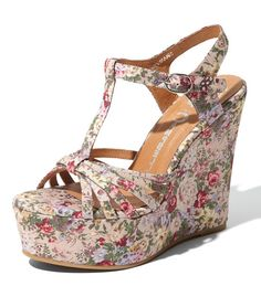 Spring Dream Shoe - vintage victorian floral, funky platform, perfect for the hipster in you!