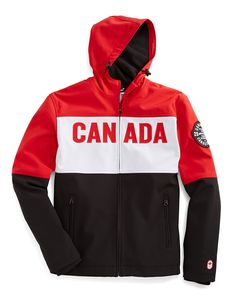 HBC Collections | Olympic Collection | Sochi 2014 Men's Softshell Colourblock Jacket | Hudson's Bay