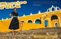 Messico Folk - Zhenya Katava Embraces Traditional Folk Style for Glamour Italy shot by fashion photographer Matteo Bertolio.