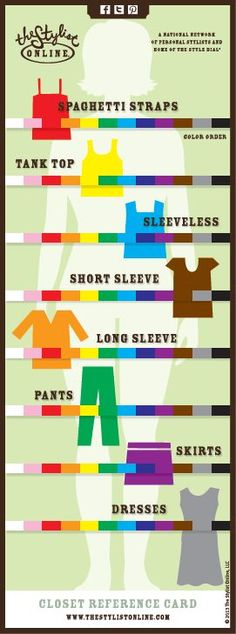 7 Best Color Coded Closet Images Color Combinations Color Theory