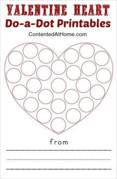 Do-a-dot printables are wildly popular with my 3-year-old right now. Whether they are ABCs, numbers, or art projects, she loves them all. These Valentine Heart Do-a-Dot Printables are perfect for p...