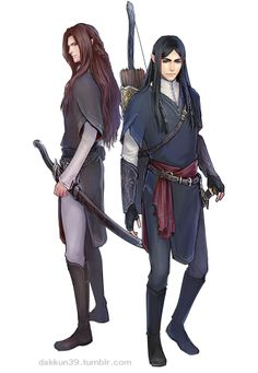 Fingon and Maedhros from dakkun39  http://dakkun39.tumblr.com/