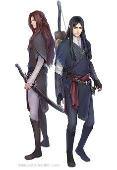 Fingon and Maedhros from dakkun39  http://dakkun39.tumblr.com/