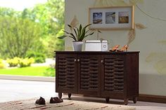 Kitchen Cabinets Ideas | Wholesale Interiors Baxton Studio Winda Modern and Contemporary 3Door Dark Brown Wooden Entryway Shoes Storage Cabinet ** Continue to the product at the image link. Note:It is Affiliate Link to Amazon. #ModernKitchenCabinetsIdeas
