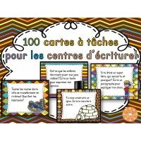 100 cartes à tâches pour le centre d'écriture First Year Teaching, Teaching Writing, Writing Activities, Education And Literacy, French Education, Teaching French Immersion, Pomes, Core French, Teachers Corner