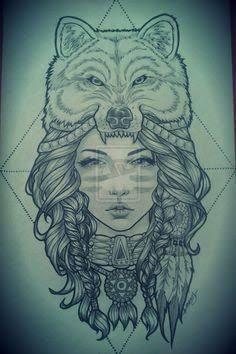 Resultado de imagem para Native American girl with a bear head dress