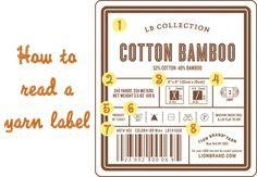 How to read a #yarn label