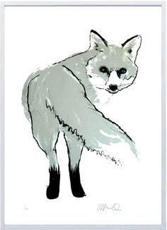 Gorgeous silver fox print by Tiff Howick.  Lovely website!