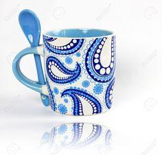 Paisley Coffee Cups