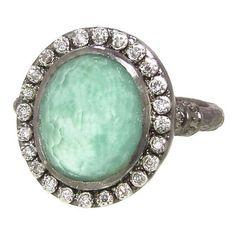 Emily Armenta New World Oval Green Turquoise/Quartz