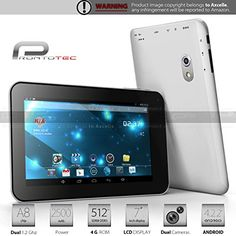 cool Prontotec 7 Inch Android Tablet Pc,Dual Core 1.2 Ghz, Android 4.2.2, 4g Rom, Ddr3 512m Ram, Dual Cameras, Standard USB Port, Wi-fi, G-sensor (White)